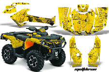 CanAm SST G2 AMR Racing Graphic Kit Wrap Quad Decal ATV 2013-2014 MELTDOWN YLLO