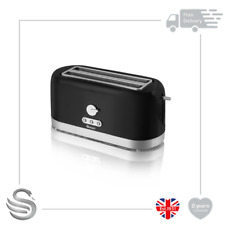 Swan ST10091BLKN, 4 Slice Toaster, Variable Browning Control & Extra Long Slot