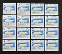 CANADA 1998 #1698 High Value, $2 Polar Bear, Wholesale lot of 16 stamps Mint NH