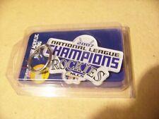 2007 Rockies National League Champions acrylic key ring NL N.L. MLB