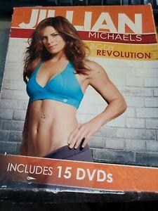 Jillian Michaels BODY REVOLUTION 15 DVD 90 Day Weight Loss Kit COMPLETE Workout!