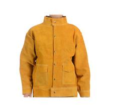 Flame Resistant Heavy Duty Leather Welding Jacket Pants Welders Overalls