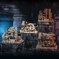 ROKR Marmor Achterbahn 3D Puzzle DIY Holz Laserschneiden Spielzeug für Kinder