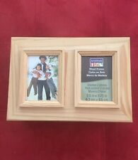 🌺 Crafts | New Wooden Unpainted Box with Two Picture Frames