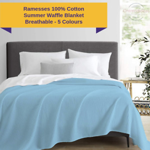 Ramesses Ultra Soft 100% Egyptian Cotton Waffle Blanket | Summer Blanket Airmax