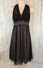 City Triangles Black And Pink Halter Cocktail Prom Dress Size Small