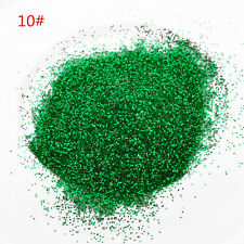 25g Fine Glitter Chic Nail Powder Dust Rainbow Color for Crafts Nails Floristry Green