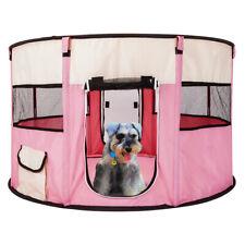 "45"" Circular 600D Oxford Pet Puppy Soft Tent Playpen Dog Cat Crate Pen Pink"