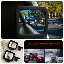 2pcs Side Wide Angle Rearview Car Auxiliary Adjustable Blind Spot Convex Mirror