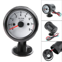 "2"" 52mm 12V Blue LED 0-8000RPM Auto Car Tachometer Tach Gauge Meter + Sensor"