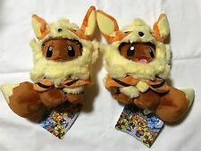 Pokemon Center Japan Okinawa Limited Arcanine Poncho's Eevee Plush pair