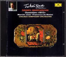 Daniel BARENBOIM: TCHAIKOVSKY 1812 Overture Francesca da Rimini Marche slave CD
