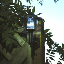 2 x Solar Powered Outdoor Wall Lights Lamp Garden Patio Fence Door Shed Lighting
