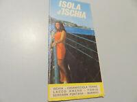 Folleto Mapa - Isla D'Ischia - Vintage Años 50/60