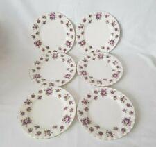 Set Of 6 Royal Albert English Bone China Sweet Violets Pattern Tea Plates