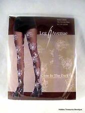 NIP Leg Avenue Spiderweb Glow In The Dark Pantyhose Costume Accessory