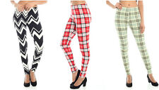 New Fitted Butter Soft Cross Plaid Design Workout Leggings Yoga Pants L13