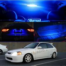 For 96-00 Civic Interior Blue LED Bulb Package(Map Dome + Trunk + License Plate)