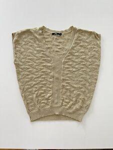 Gold Metallic Sleeveless top for SPORTSGIRL Size Large Vest