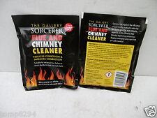 2 X PACKS OF SORCERER FLUE & CHIMNEY CLEANER FOR WOOD BURNERS FIRES ETC