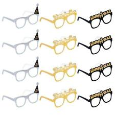 12PCS 2020 Glitter Card Glasses Happy New Year's Eve Glasses Party Photo Prop