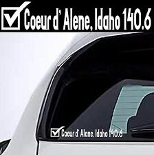 2018 Or Any year Ironman Coeur d' Alene Idaho Triathlon Finisher Decal