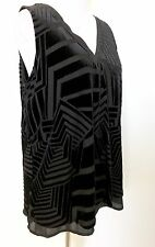 Halogen Black Velvet Chiffon Shell Top. NWT Size XS Retail $69 Price $29