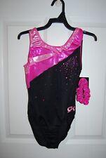 GK Elite Gymnastics Leotard - Adult Small -Pink/Black