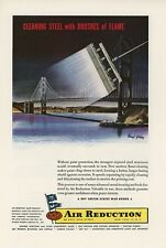 1944 AIRCO Air Reduction Ad Brushes of Flame Golden Gate Bridge San Francisco CA