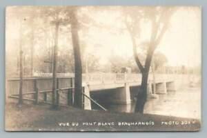 Pont Blanc BEAUHARNOIS Quebec RPPC Antique Photo Postcard CPA ~1920s