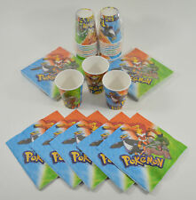 Pokemon Birthday Party Napkins and Drinking Paper Cups (24 Cups + 48 Napkins)