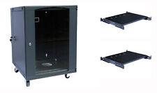 Raising Electronics 12U Wall Mount Network Server Cabinet Glass Door w/ 2 shelf