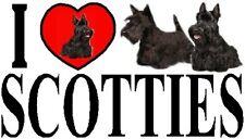 I LOVE SCOTTIES Car Sticker By Starprint - Featuring the Scottish Terrier
