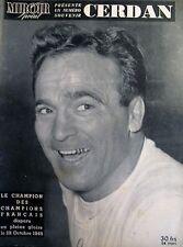 BOXE CERDAN LE CHAMPION DES CHAMPIONS N° SOUVENIR 24 PAGES MIROIR SPRINT 1949
