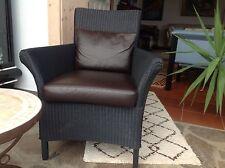 Lloyd Loom Chair Sessel Original mit Leder Polster! Hochwertig für ihr Domicil