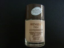 Revlon New Complexion Liquid Makeup / Foundation - IVORY BEIGE #01 - New