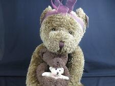 New Jumbo Animal Junction Russ Mama Bear Baby & Teddy Bear Brown Plush Stuffed