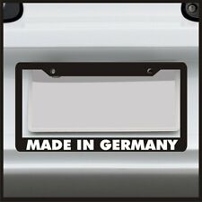 Made In Germany License Plate Frame for Euro VIP Slammed stance JDM tag car