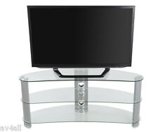 """AVF Silver Curved TV Stand for TV's up to 60"""" FS1200CURBB"""