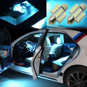 2x Ice Blue 31mm 12V LED Car Interior Dome Map door Light Bulbs Car Accessories