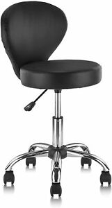 Rolling Swivel Salon Stool Chair with Back Support Adjustable Hydraulic Office