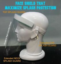 FRONT LINE WORKERS: HF-FS FACE SHIELD Extended FACE PROTECTION for EARS & NECK