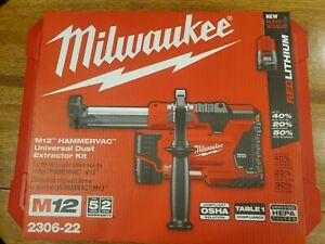 Milwaukee m12 Hammervac Dust Extractor Kit 2306-22 (2-batteries, charger, tool)