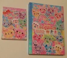 Rare Kamio Japan Jewelry Rabbits Kawaii Large & Mini Memo Pad lot Vintage