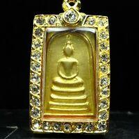 Rare Somdej Yan 10 , Luang Por Prom, wat Chongkae , Nakonsawan province BE2514