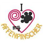 I Heart My Affenpinscher Ladies Short-Sleeved T-Shirt 1405-2 Size S-XXL