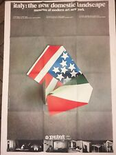 POSTER ITALY THE NEW DOMESTIC LANDSCAPE MOMA 1972