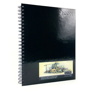A4 Sketch Book Pad White Paper 135gsm Spiral Bound Hardback 50 Sheets