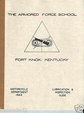 1920-1999,Harley,WLA,WL,WLD,WLC,WLDR,Servi-car,Lubrication,Guide,manual,XA,
