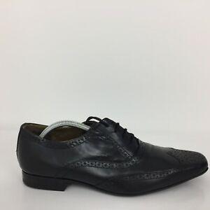Redherring Black Leather Lace Up Brogue  Comfort Shoe Men Size UK 9 Eur 43